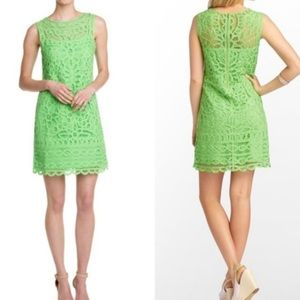 Lily Pulitzer green lace dress